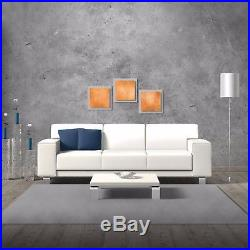 Modern Abstract Metal Wall Art Contemporary Accent Painting, Orange Home Decor