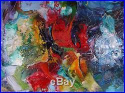 Moderne Bunt Malerei Titel COLOURS WONDERLAND 150x150 von Bozena Ossowski