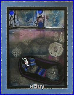 Nasser Ovissi Mixed Media Girl in Blue