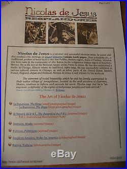 Nicolas De Jesus Fiesta En Dia De Muertos Original 1989 Mixed Media