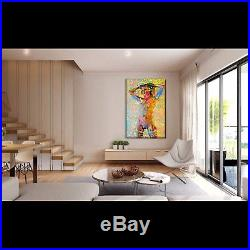 Nik Tod Original Painting Large Sign Art Amazing Erotic Nude Naked Sexy Woman