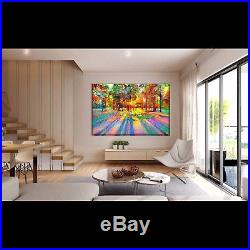 Nik Tod Original Painting Large Sign Art Amazing Modern Forest With Sun Rays Uk
