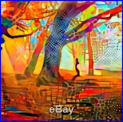 Nik Tod Original Painting Large Sign Art Texture Colors Amazing Abstract Tree Uk