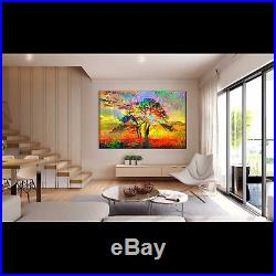 Nik Tod Original Painting Large Sign Art Textured Colorful Amazing Abstract Tree