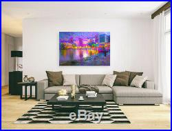 Nik Tod Original Painting Large Signed Art Amazing View From Manchester City Uk