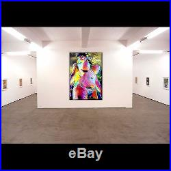 Nik Tod Original Painting Large Signed Art Color Textured Sexy Erotic Nude Woman