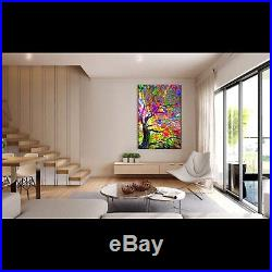 Nik Tod Original Painting Large Signed Art Colored Investment Abstract Tree 6 Uk