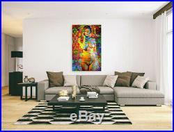 Nik Tod Original Painting Large Signed Art Investment Nude Naked Beautiful Woman