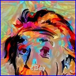 Nik Tod Original Painting Large Signed Art Texture Colorful Rare Albert Einstein