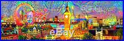 Nik Tod Original Painting Large Signed Art Unique Amazing Panoramic View London