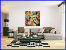 Nik Tod Original Painting Large Signed Rare Art Amazing Tree Branches Silhouette