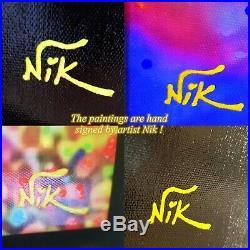Nik Tod Original Painting Signed Art Texture Rare Parrot Bird Kea In New Zealand