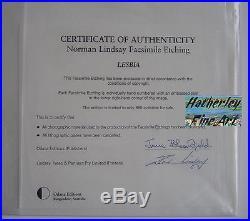 Norman Lindsay Lesbia Facsimile Etching 529/550 COA