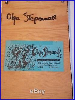 OLGA STEPANEK Mixed Media Sculpture Art Collage Metal Original Nebraska Artist