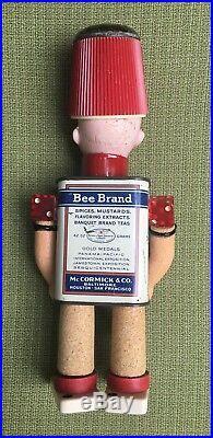 OOAK Assemblage ART DOLL Vintage Mixed Media Antique German Head Named PEPPER