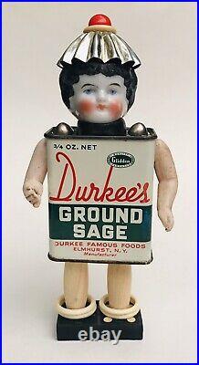 OOAK Handmade Assemblage Junk ART DOLL Mixed Media Antique China Head Sage