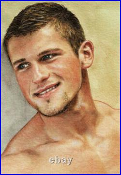 ORIGINAL Artwork Male Drawing Paint Gay Interest MCicconneT WELL-INTENTIONED