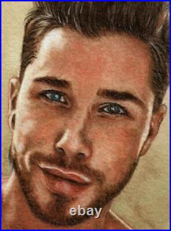 ORIGINAL Artwork Male Drawing Painting Gay Interest MCicconneT BY THE BY