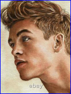 ORIGINAL Artwork Male Drawing Painting Gay Interest MCicconneT LESSER POINT
