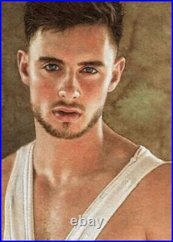 ORIGINAL Artwork Male Drawing Painting Gay Interest MCicconneT PART OF YOU