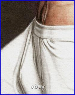 ORIGINAL Artwork Male Nude Drawing Painting Gay Interest MCicconneT IF ONLY