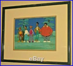 ORIGINAL Fat Albert & The Gang Cartoon Animation Cel Filmation Studio Painting