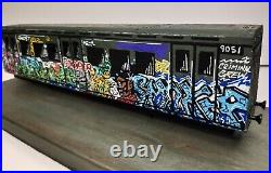 ORIGINAL GRAFFITI SUBWAY TRAIN, 80s, Old Skool, Urban, Street Art, OOAK