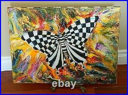 ORIGINAL Hand Painted BUTTERFLY Mixed Media inspired by Mackenzie Childs
