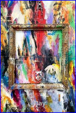 ORIGINAL MIXED MEDIA assemblage collage abstract expressionist modern painting