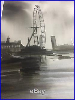 ORIGINAL Paul Kenton Mixed Media Painting Eye Of The Storm London artist artwork