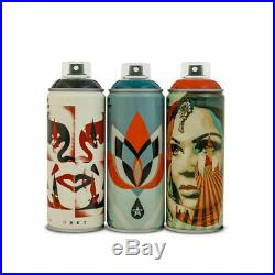 Obey Giant Shepherd Fairey x Montana Beyond The Street Spray Can Set IN HAND