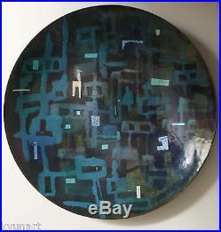 Oppi Untracht, American Metalsmith mid century Enamel Copper bowl Great Design