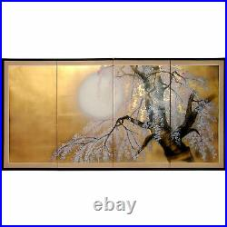 Oriental Furniture 36 Gold Leaf Sakura Blossom