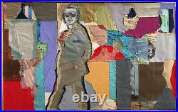 Original 1985 Benjamin Borax'COOL' ABSTRACT Collage Vintage Rare 49x31