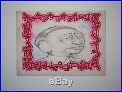 Original 1993 Barry McGee UNTITLED Graphite pencils, Ink drawing art banksy kaws