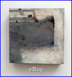 Original Abstract Mixed Media Art 10 X 10 Cliffside1 by Joyce Stratton