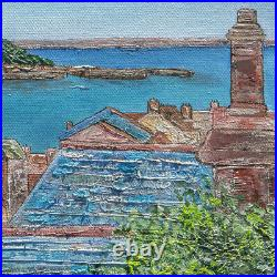 Original Art Over the Rooftops St Michael's Mount Cornwall Cornish painting