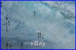 Original Art Stormy Fistral Cornwall art gift Cornish artist painting