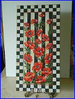 Original Hand Painted POPPIES Mixed Media Inspired by Mackenzie Childs