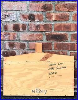 Original Harry Glaubach Assemblage Artwork. Historic Katz Deli. NYC Signed. 2005