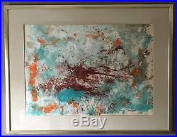 Original Irish Art Mixed Media Gouache / Oil Painting Abstract By David Wilson