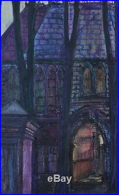 Original John Rodney Cook House on the Coppice, Oldham Mixed Media on Paper