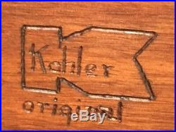 Original Mosaic Tile On Wood Mid Century Artwork Signed Kohler 24x12