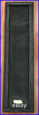 Original Nevelson Sculpture Wall Art Wood Assemblage Black Brutalist Mid Century
