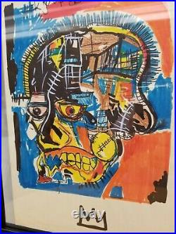 Original Painting on Paper Jean M. BASQUIAT hand signed 8.5 X 13