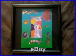 Original Peter Max, Statue of Liberty, Acrylic Mixed Media Painting, Signed
