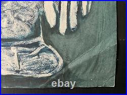 Original painting signed by the artist. Illegible signature