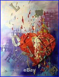 PAINTING ORIGINAL TEXTURED MIXED MEDIA ACRYLIC CANVAS CUBAN ART By LISA. 24X36