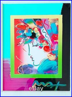 PETER MAX, BLUSHING BEAUTY, Signed in Acrylic, Mixed Media, RARE and Beautiful