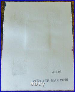 PETER MAX Better world I unique variation orig mixed media HAND SIGNED COA